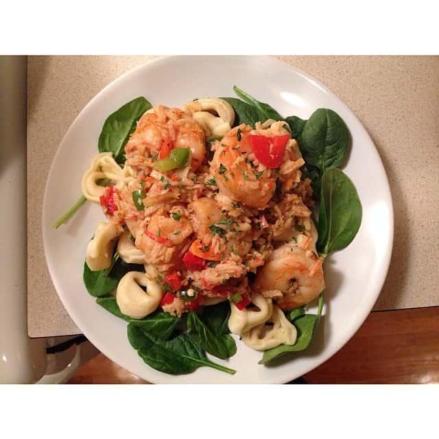 Tortellini with Shrimp & Crabmeat
