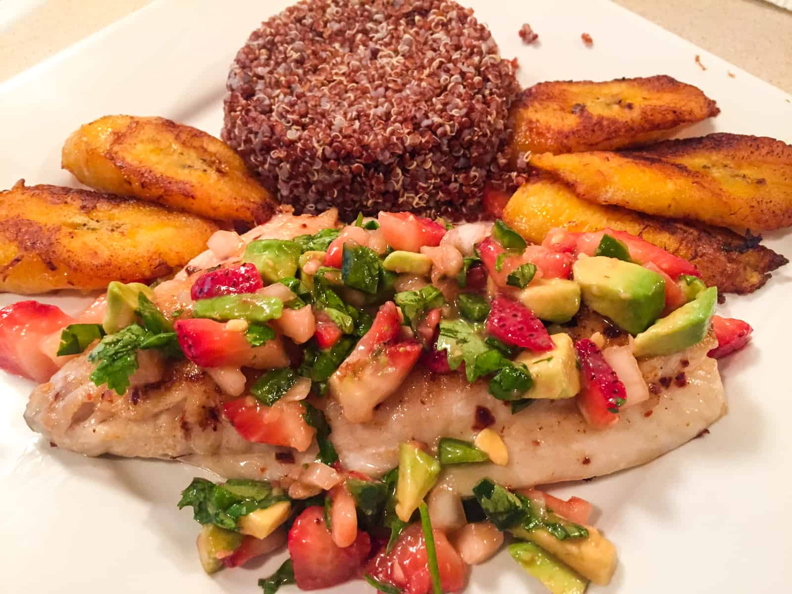 Red Snapper With Strawberry Avocado Salsa