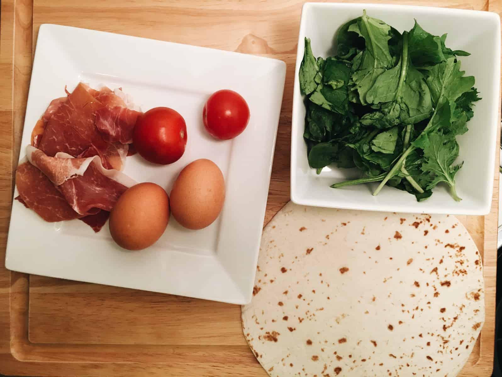 Prosciutto Breakfast Wrap