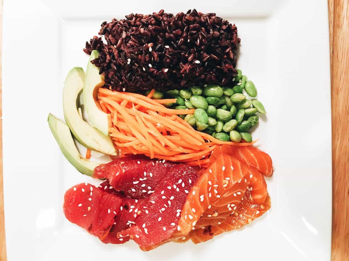 Teriyaki Salmon and Tuna